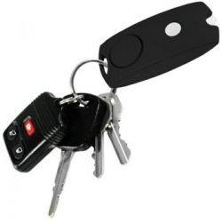 Personal Key-Chain Alarm / Flashlight ~ 120+ Decibels ~ Black & Pink - Black