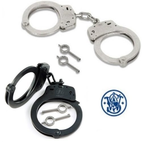 SMITH & WESSON ~ HANDCUFFS ~ STAINLESS (M-100)