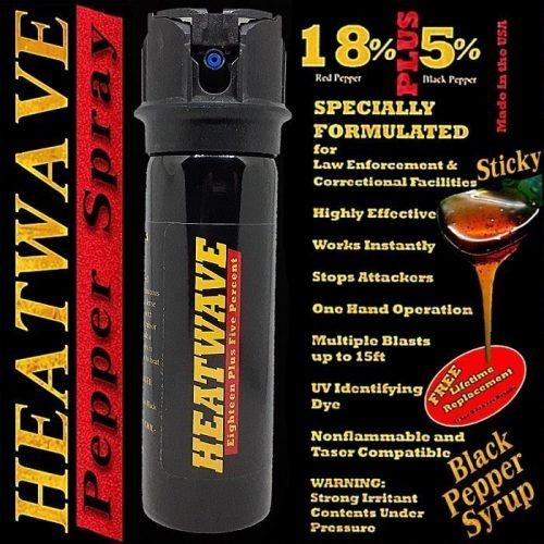 HEATWAVE PEPPER SPRAY ~ 4 OZ. FLIP-TOP - Foam
