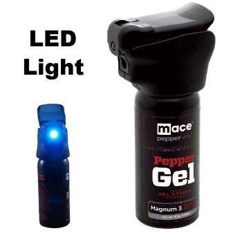 MACE ~ NIGHT DEFENDER PEPPER GEL ~ MAGNUM 3 W/ LED LIGHT