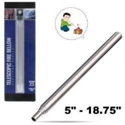 "Telescopic Pocket Stainless Steel Fire Bellow (4.3/4""-18.3/4"")"