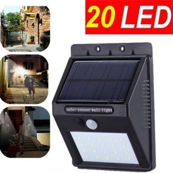 Unlimited Hours ~ 20 Bright LED Lights ~ Automatic Sensor - Weather Proof Design