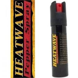 HEATWAVE NAPALM 23% OC ~ 3/4 oz. Twist-Lok Pepper Spray w/ Optional Leather Holster - Black - No Holster