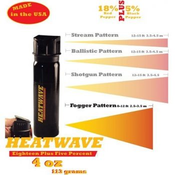 HEATWAVE 4 OZ. FLIP-TOP FOGGER PEPPER SPRAY