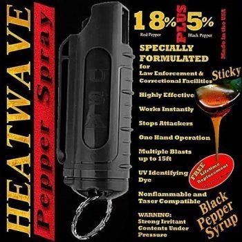 HEATWAVE .5 OZ. PLASTIC MOLDED PEPPER SPRAY W/ KEY RING