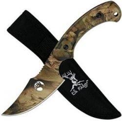 """8"""" SKINNER KNIFE ~ ELK RIDGE ~ GREEN CAMO"""