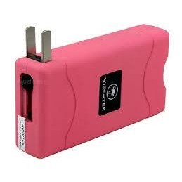 VTS-880 ~ 25 Million Mini Stun Gun ~ Rechargeable w/ LED Flashlight ~ Pink