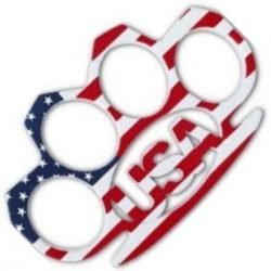 "USA ~ BELT Belt Buckle / Paper Weight / ""KNUCKLE HUGGER"" ~ Solid Metal"