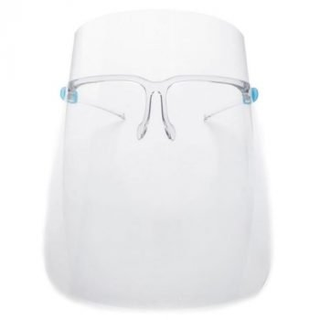 5 Sets - Anti-Fogging Protective Face Shields w/ Glasses Frame (Fits Prescription Glasses too)