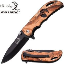 "ELK RIDGE ER-A008BC SPRING ASSISTED KNIFE 4.5"" CLOSED"