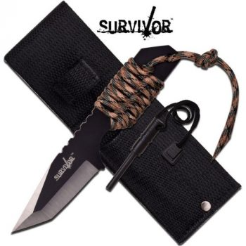 "SURVIVOR HK-106320TN FIXED BLADE KNIFE 7"" OVERALL"
