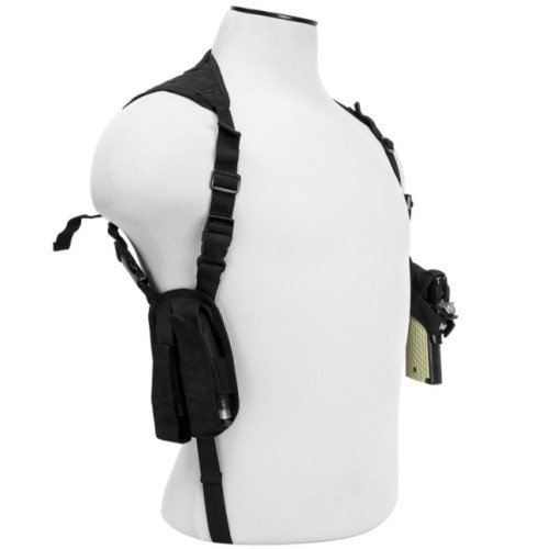 Fully Adjustable Shoulder Holster ~ Firearms - Compact to Full ~ 2 Double Stack Magazine Holsters