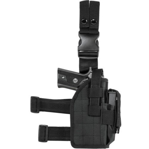 Full Size Drop Leg Universal Holster w/ Double Stack Mag Pouch