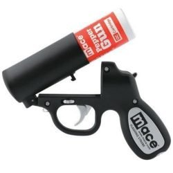 MACE ~ PEPPER GUN w/ OC PEPPER SPRAY - BLACK