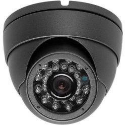 Indoor/Outdoor Dome Surveillance Camera 700TVL 3.6mm Dark Gray 24IR CCTV